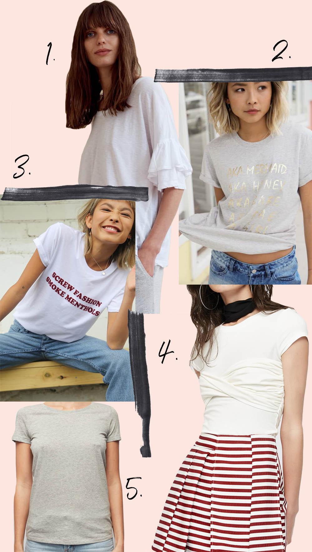 The Top 5 Tees you need this summer 2018 | Harry and Gretel Doubleview