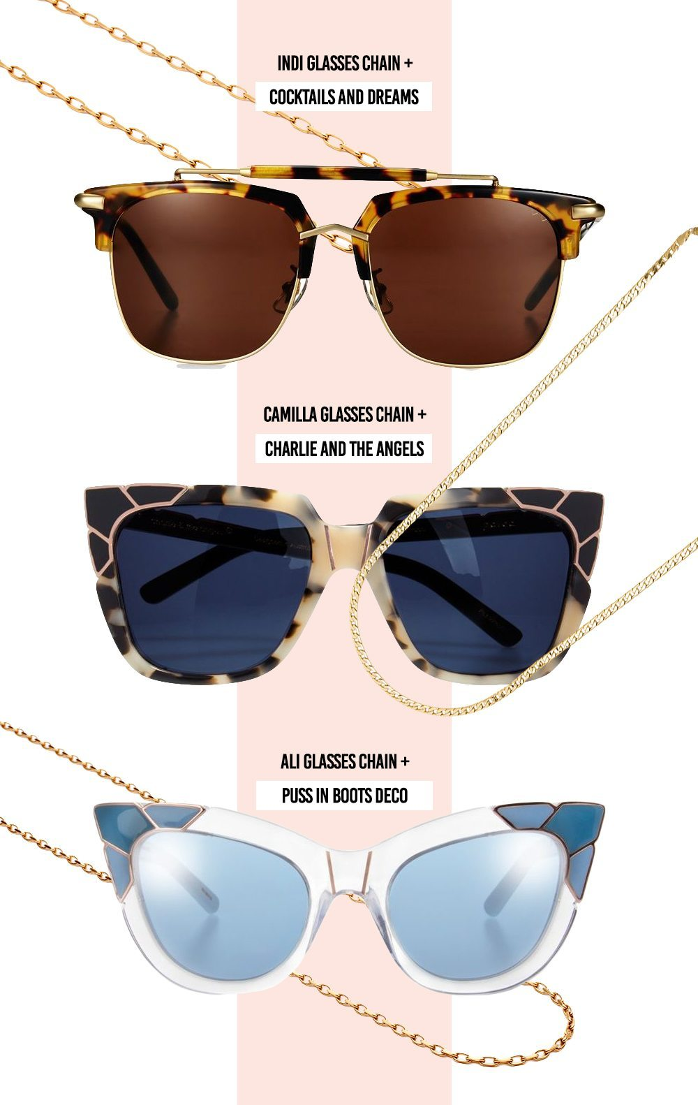 The Summer 2018 Sunglasses Chain Trend | Amber Sceats | Harry and Gretel Doubleview