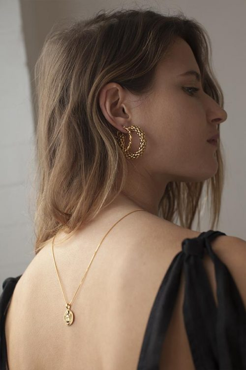 Large Pebble Hoops | Brie Leon | Harry & Gretel Doubleview | Jewellery