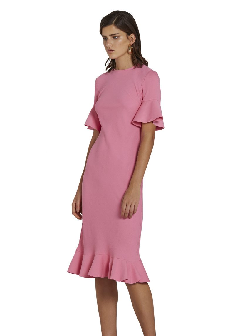 Willow Bias Tee Dress Candy Pink   By Johnny   Harry & Gretel   Dress