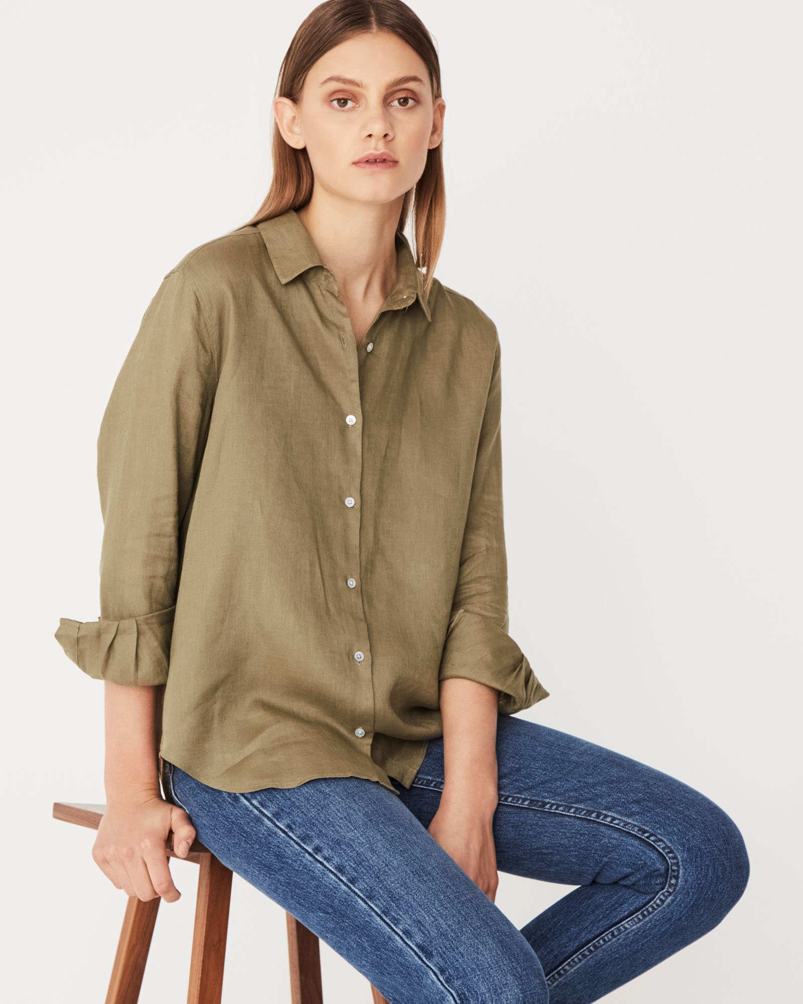 Xander Long Sleeve Linen shirt by Assembly Label at Hansen & Gretel