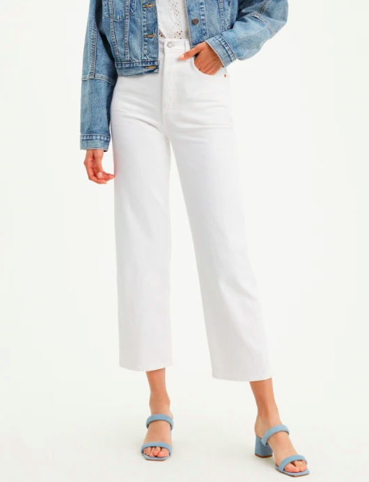 Ribcage Straight Ankle In The Clouds   Levis   Harry & Gretel   Denim