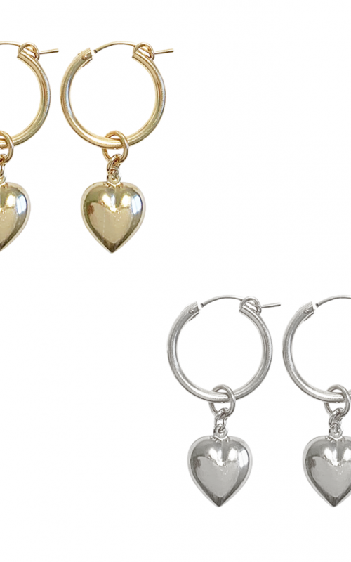 Paris Hoop Puff Heart | Misuzi | Harry & Gretel | Earrings