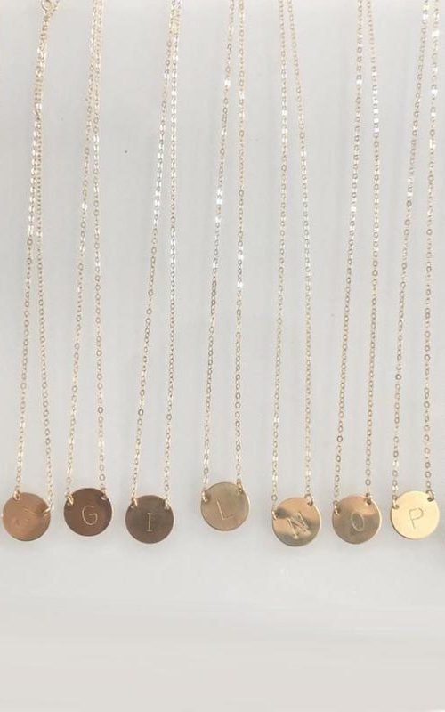 Chloe Initial Necklace | Misuzi | Harry & Gretel | Necklace | Gold