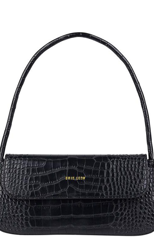 Camille Bag Black Croc | Brie Leon | Harry & Gretel | Bag