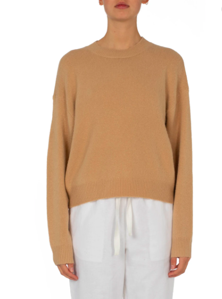 Remi Crew Neck Jumper Sand | Nude Lucy | Harry & Gretel | Jumper