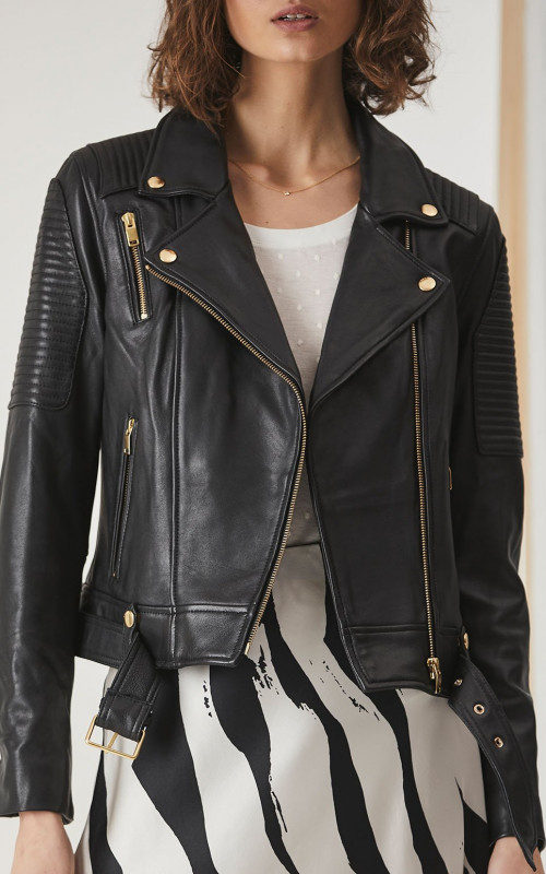 Classic Biker Jacket | Ena Pelly | Harry & Gretel | Leather | Jacket