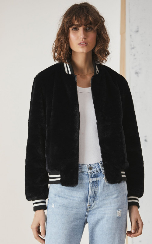 Essential Faux Fur Bomber Jacket | Ena Pelly | Harry & Gretel