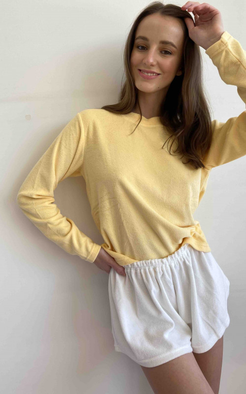 Relaxed long sleeve top | Summi Summi | Harry & Gretel | Terry Towelling