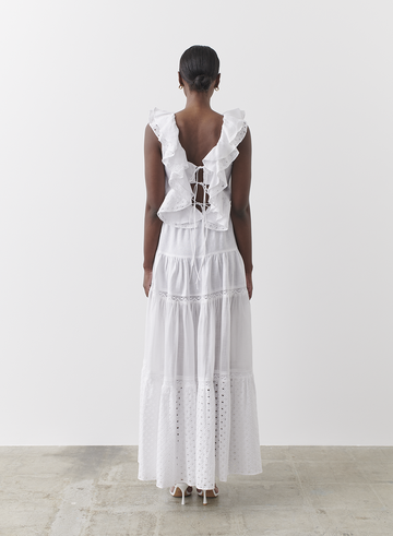 ADAYLIA LINEN RAMIE COTTON LACE MAXI SKIRT / MIDI DRESS | joslin | Harry & Gretel