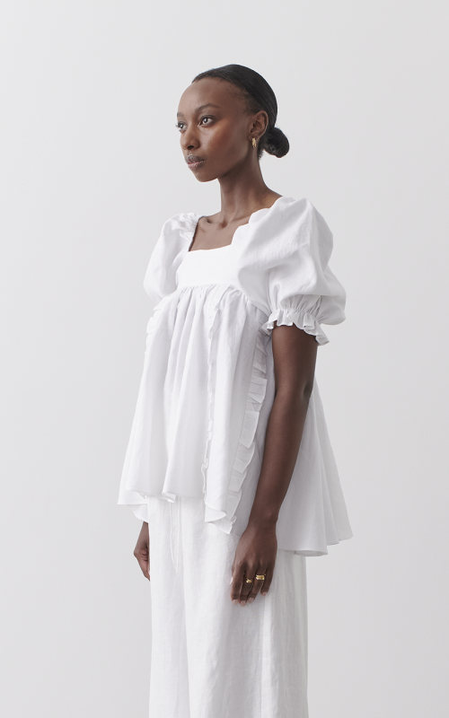 Elle Linen Smock Top | Harry & Gretel Perth | Joslin | Top