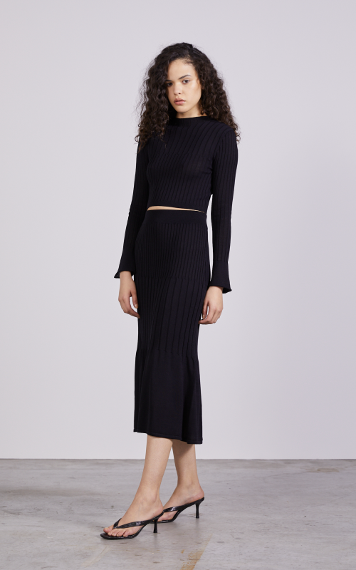 Flare Out Knit Skirt | Harry & Gretel Perth | Third Form | Skirt | Knit