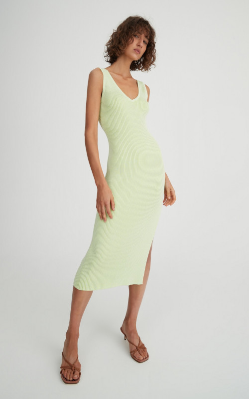 Cee Cee Dress Citrus | Harry & Gretel Perth | Midi | Knit | Rib | Dress