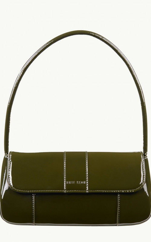 The Camille Bag Forest Green Patent
