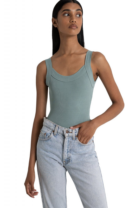 Lola Singlet Bodysuit Seafoam | Bayse | Harry & Gretel Perth | Top |