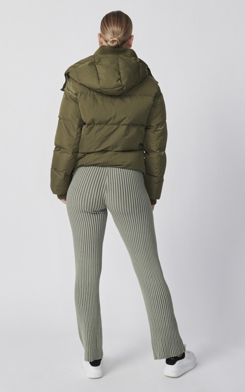 Cropped Puffer Jacket Khaki | Ena Pelly | Harry & Gretel Perth | Jacket