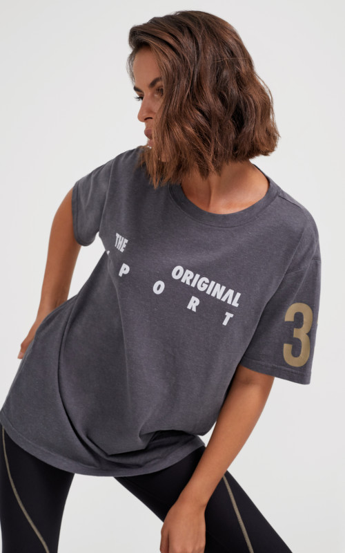 Close Out Tee Charcoal | PE Nation | Harry & Gretel Perth | Top