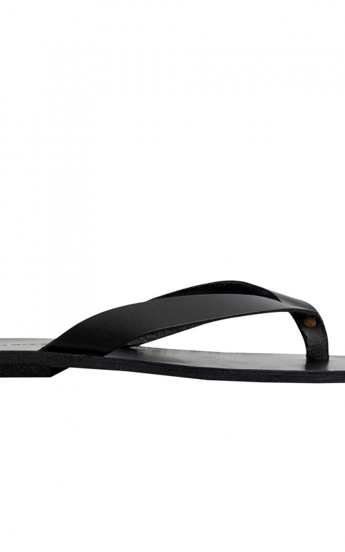 Lex Flip Flop Black Leather | Maria Farro | Harry & Gretel Perth | Thong