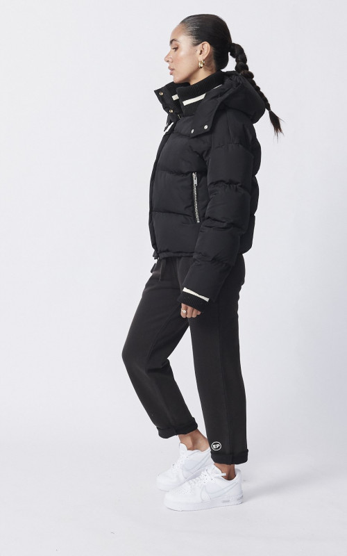 Cropped Puffer Jacket Black | Ena Pelly | Harry & Gretel Perth | Outerwear