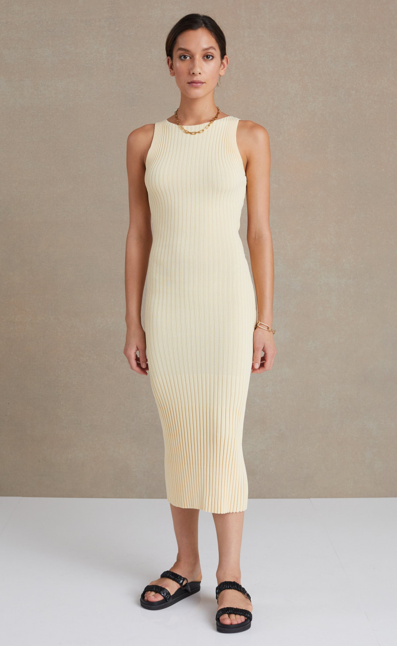 Lyla Knit Midi Dress Butter | Bec & Bridge | Harry & Gretel Perth | Dress