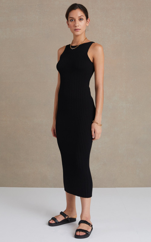 Lyla Knit Midi Dress Black | Bec & Bridge | Harry & Gretel Perth | Dress |