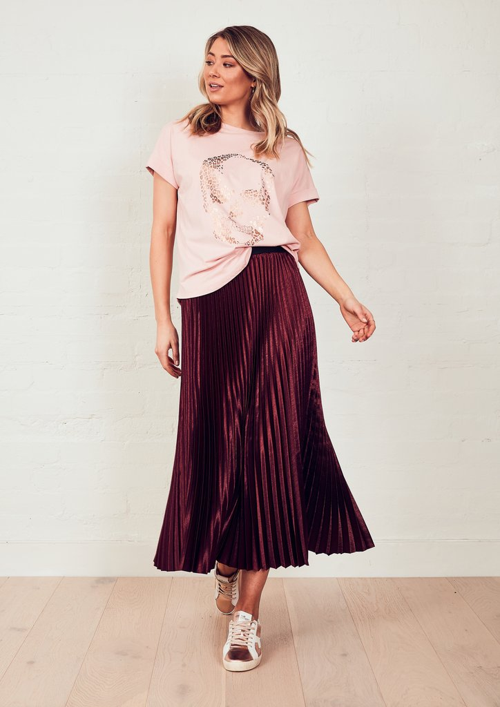 Sunray Skirt Merlot | The Others | Harry & Gretel Perth | Bottoms