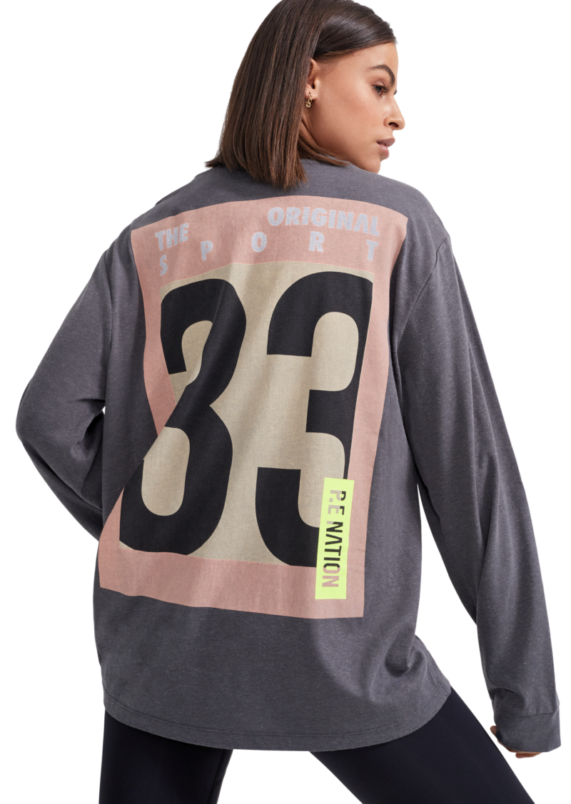 Alliance LS Top Charcoal | PE Nation | Harry & Gretel Perth | Activewear |