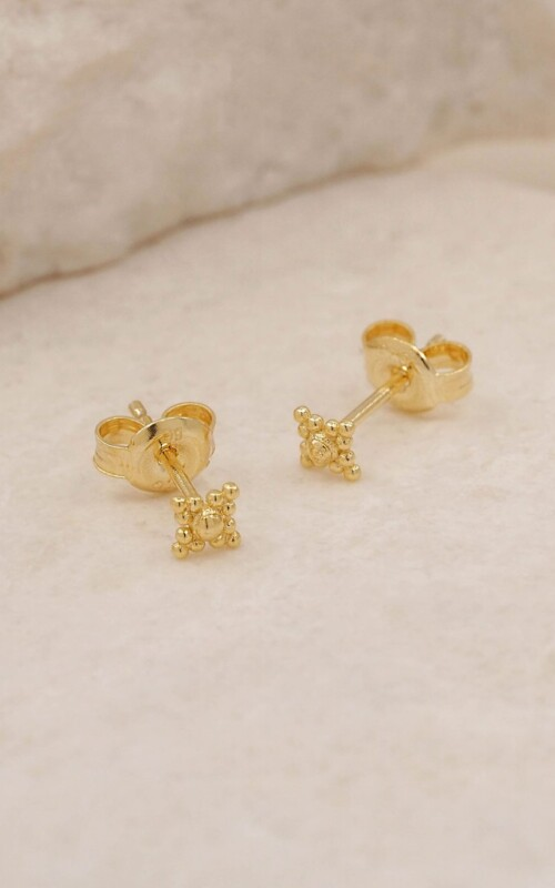 Gold Blessed Earrings | By Charlotte | Harry & Gretel Perth | Jewellery |