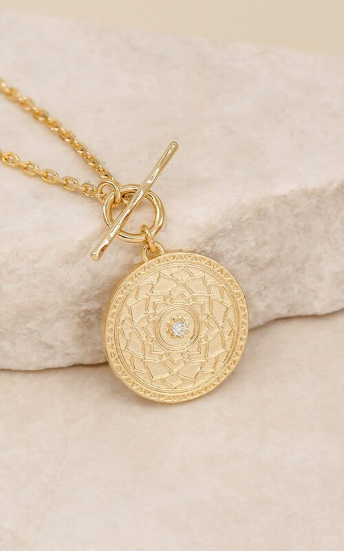A Thousand Petals Fob | By Charlotte | Necklace | Jewellery | Gold |