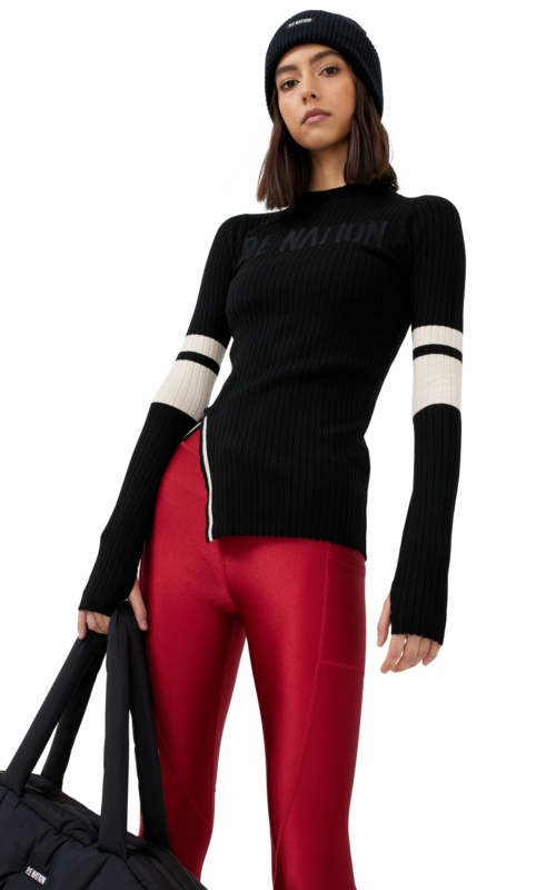 Courtside LS Knit Top Black | PE Nation | Harry & Gretel Perth | Active |